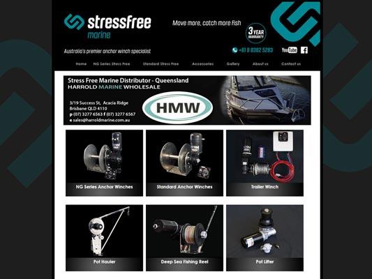 stressfree marine website design adelaide